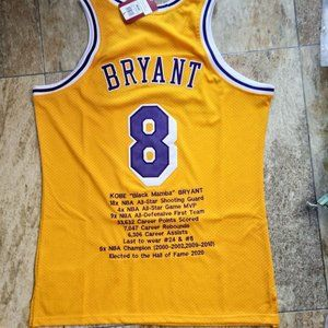 Los Angeles Lakers Kobe Bryant #8 Gold Jersey